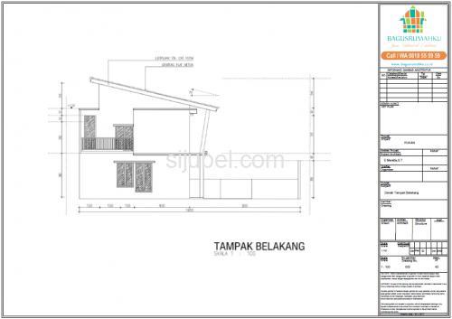 Jasa Gambar Struktur Arsitek Rumah 2 Lantai untuk IMB - 1/4