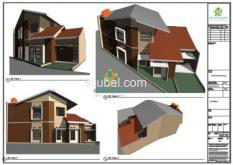 Paket Gambar Lengkap 2D 3D Non Render dan RAB - BAGUSRUMAHKU
