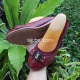 flat sepatu YSL wanita import