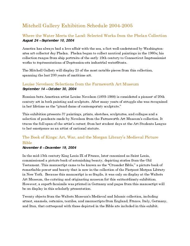 Mitchell Gallery Exhibition Schedule 2004-2005.pdf