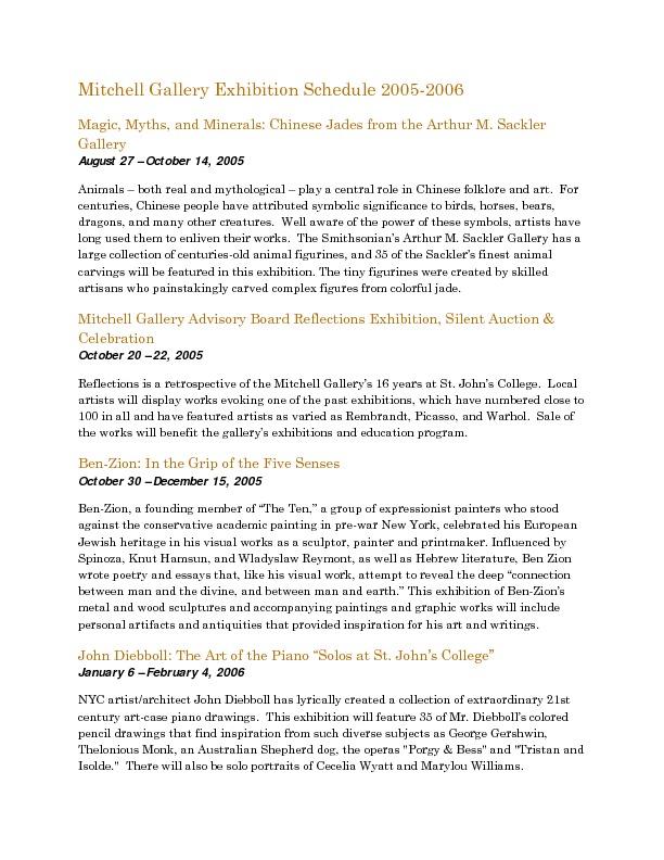 Mitchell Gallery Exhibition Schedule 2005-2006.pdf