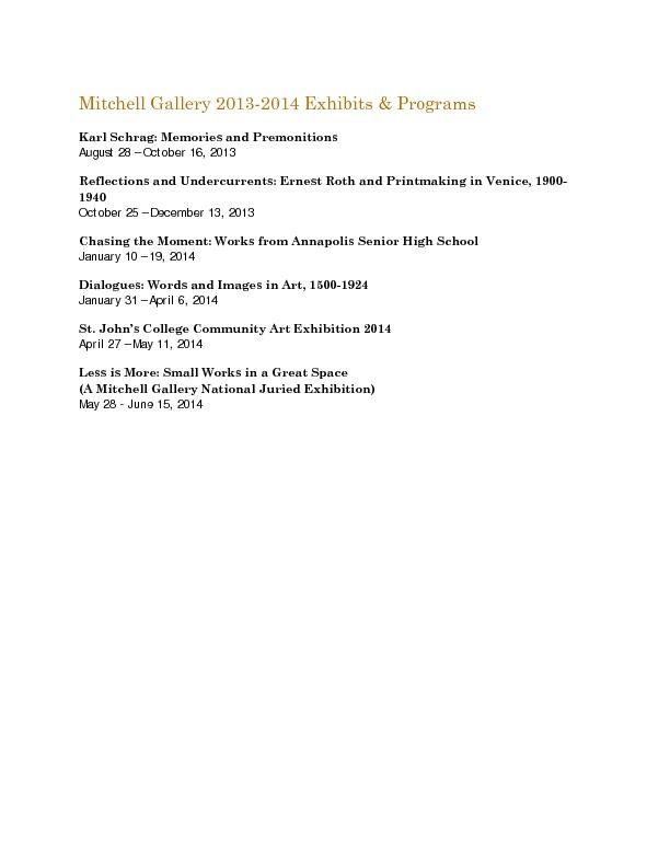 Mitchell Gallery Exhibition Schedule 2013-2014.pdf