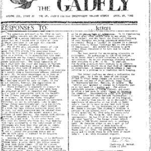 The Gadfly Vol. III, Issue 22