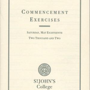 Santa Fe Commencement Program, Spring 2002