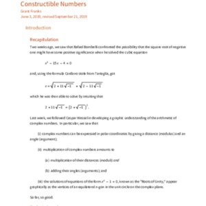 Franks, G. Constructible Numbers.pdf