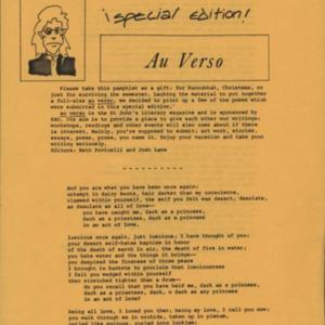Au Verso, Winter 1982