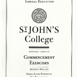 Graduate Institute Commencement Program,  2010