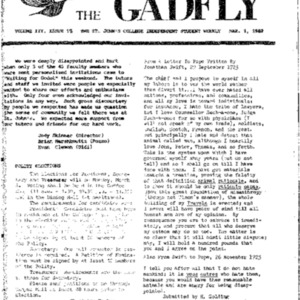 The Gadfly Vol. III, Issue 18