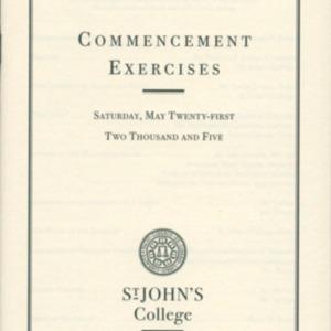 Santa Fe Commencement Program, Spring 2005