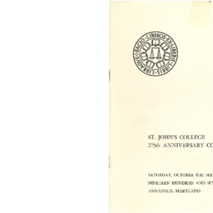 St. John's College 275th Anniversary Convocation