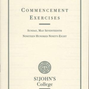 Santa Fe Commencement Program, Spring 1998