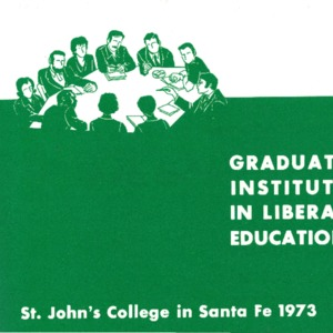 Graduate Institute in Liberal Education, St. John's College in Santa Fe 1973