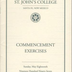Santa Fe Commencement Program, Spring 1997