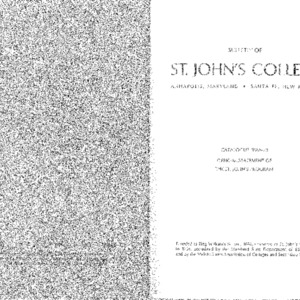 Bulletin of St. John's College:  Catalogue 1968-1970, Official Statement of the St. John's Program