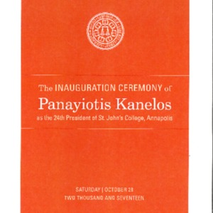 Inauguration Ceremony of Panayiotis Kanelos