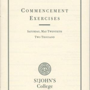Santa Fe Commencement Program, Spring 2000