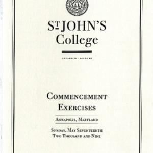 Commencement Program,  2009