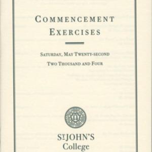 Santa Fe Commencement Program, Spring 2004