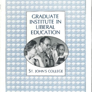 Graduate Institute in Liberal Education, St. John's College