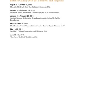 Mitchell Gallery Exhibition Schedule 2010-2011.pdf