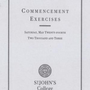 Santa Fe Commencement Program, Spring 2003