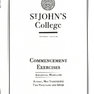 Commencement Program,  2007