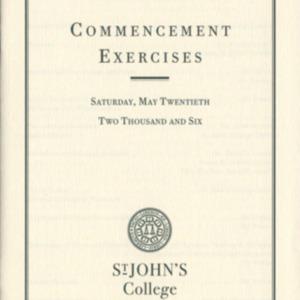 Santa Fe Commencement Program, Spring 2006