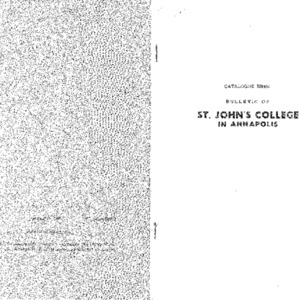 Catalogue Issue: Bulletin of St. John's College in Annapolis; Official Statement of the St. John's Program, Catalogue 1950