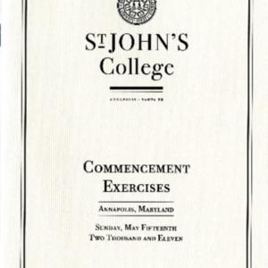 Commencement Program,  2011