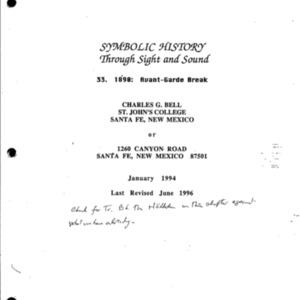 1890 : Avant-Garde Break, Symbolic History, Part 33