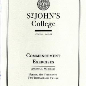 Commencement Program,  2012