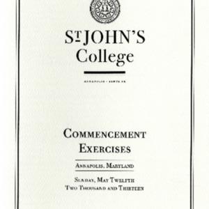 Commencement Program,  2013