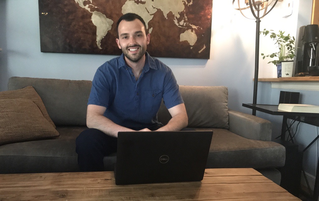 data scientist working from home