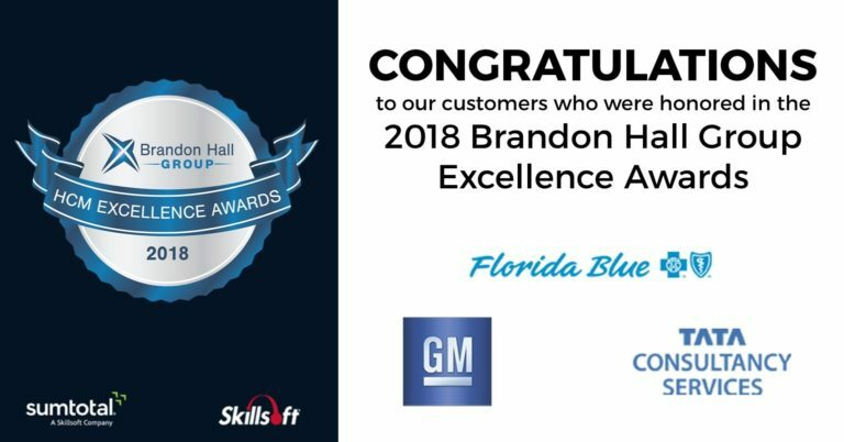Skillsoft, SumTotal customers win Brandon Hall Group Excellence Award