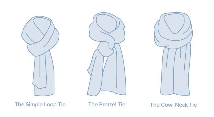 Different approaches to tying a scarf