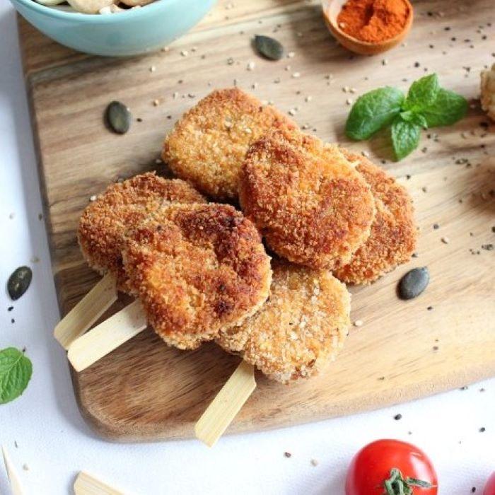 Recette de croquettes de légumes et flocons d'avoine <br>