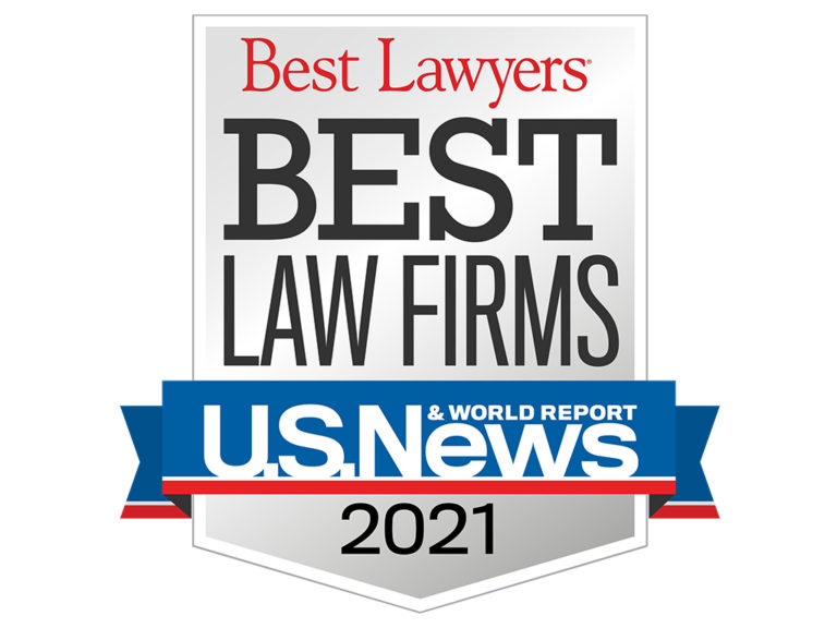 2021 Best Law Firms Standard Badge website