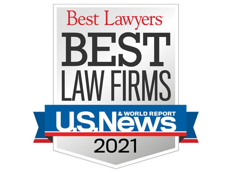 2021 Best Law Firms Standard Badge website