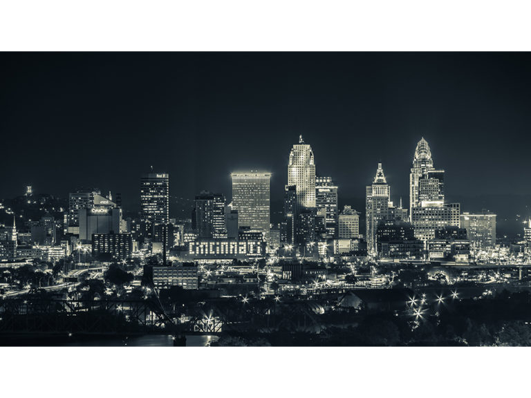 Cincinnati Skyline BW WEB