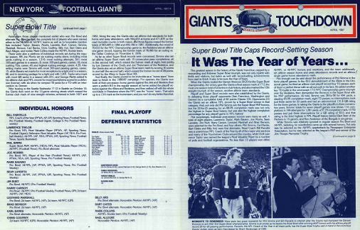 09 19 67 The New York Football Giants