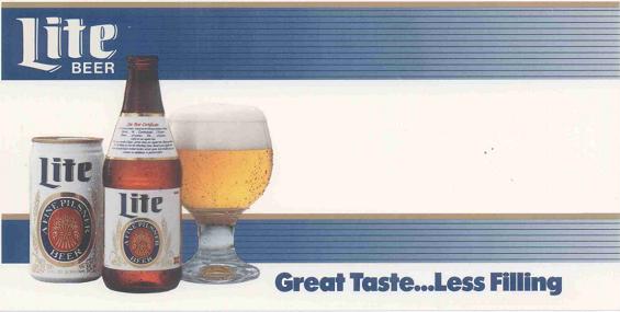 11 07 89 Great Taste Less Filling