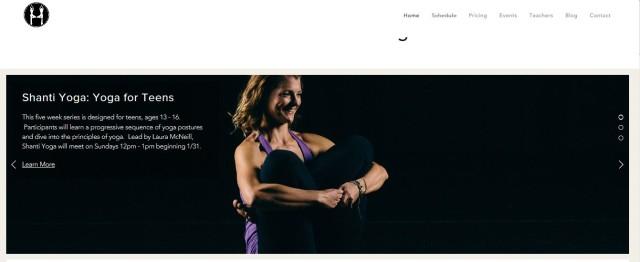 Humble Haven Yoga Website