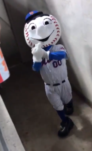 Mr Met Flips Off Fan