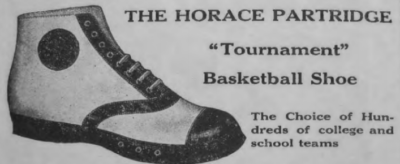 The Horace Partridge basketball shoe