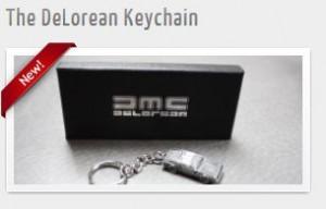 Delorean Keychain