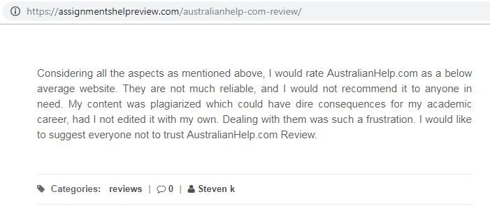 australianhelp.com review - Review 1