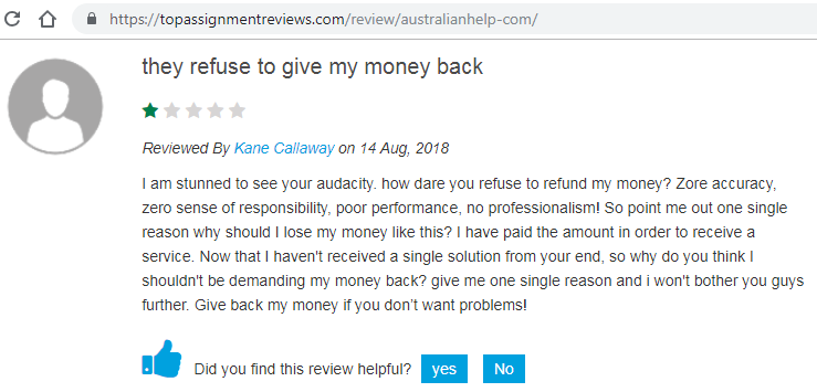 australianhelp.com review - Review 3