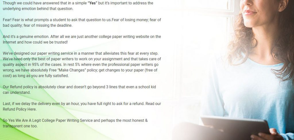onlineassignmentwriting.com review - writing style