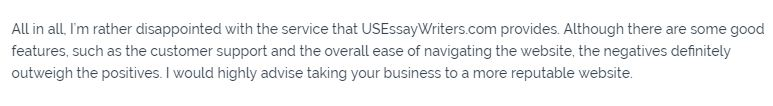 usessaywriters review - Review 1