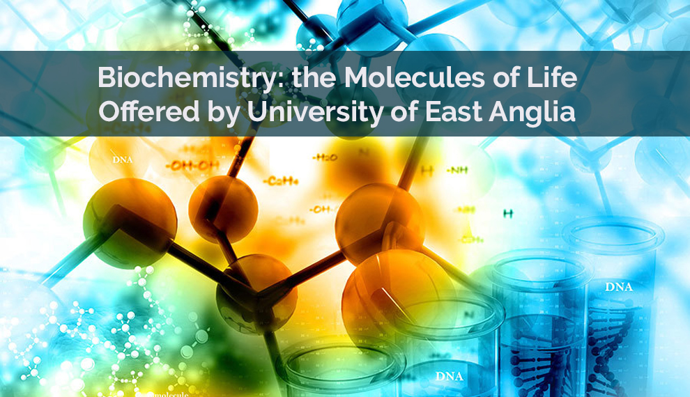 Biochemistry: the Molecules of Life - Offered by University of East Anglia [Futurelearn]